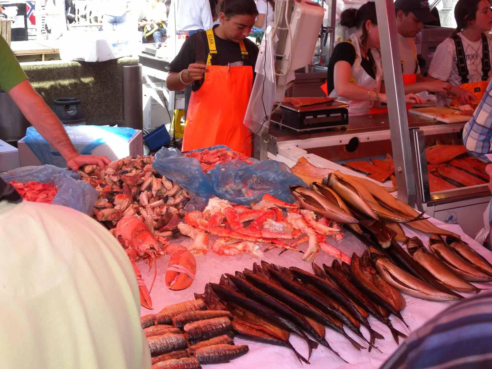 Fischmarkt (fish market) in Bergen