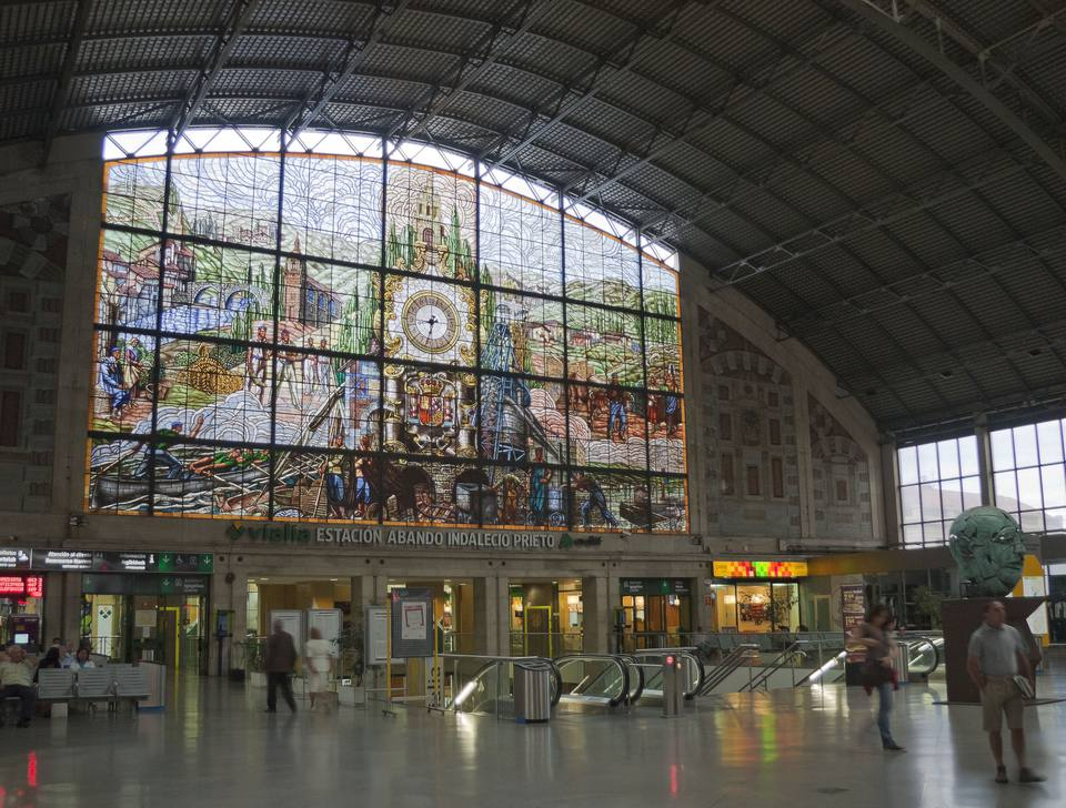 Bilbao's beautiful Abando station