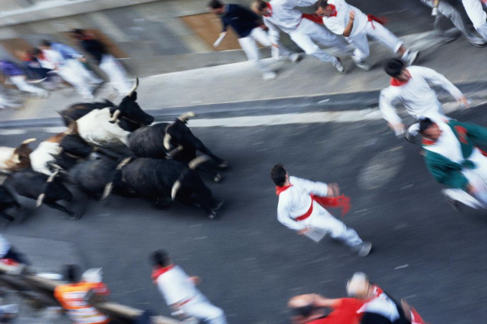 Spain, Pamplona, Encierro, 'Running of the