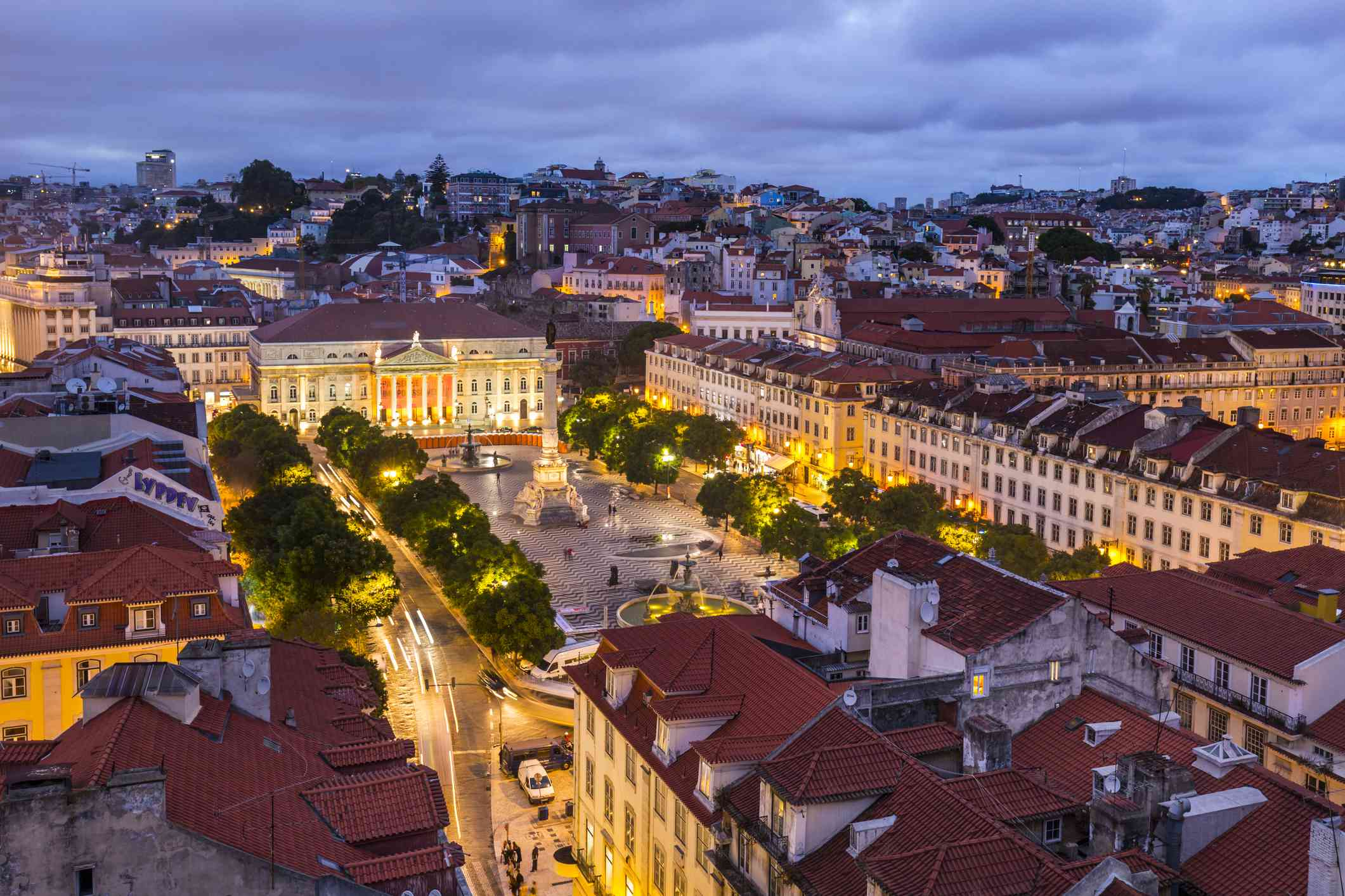 View above Lisbon's main square