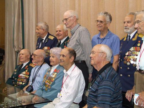 Russian and American War Veterans at the Central Museum of Armed Forces in Moscow