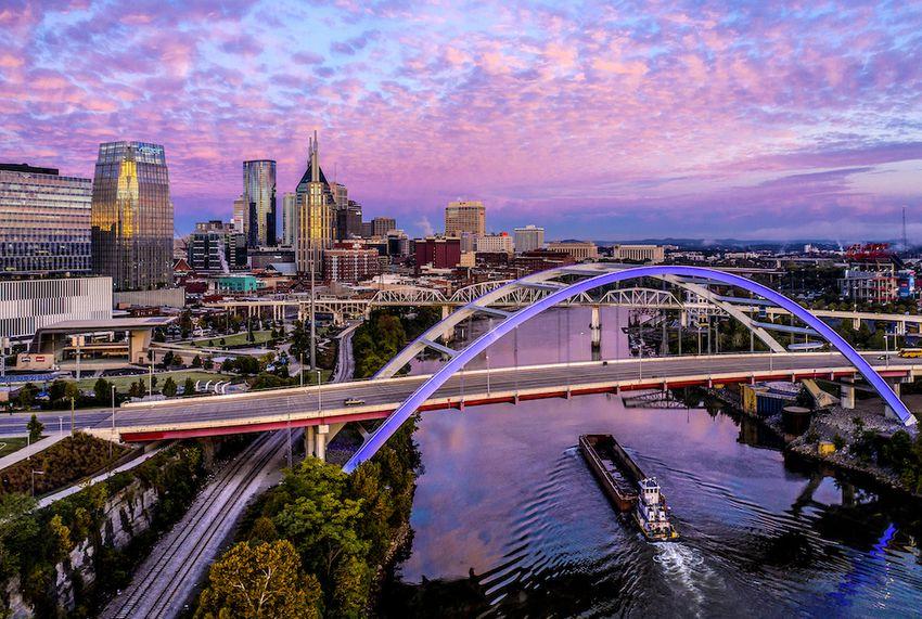 Nashville skyline and river