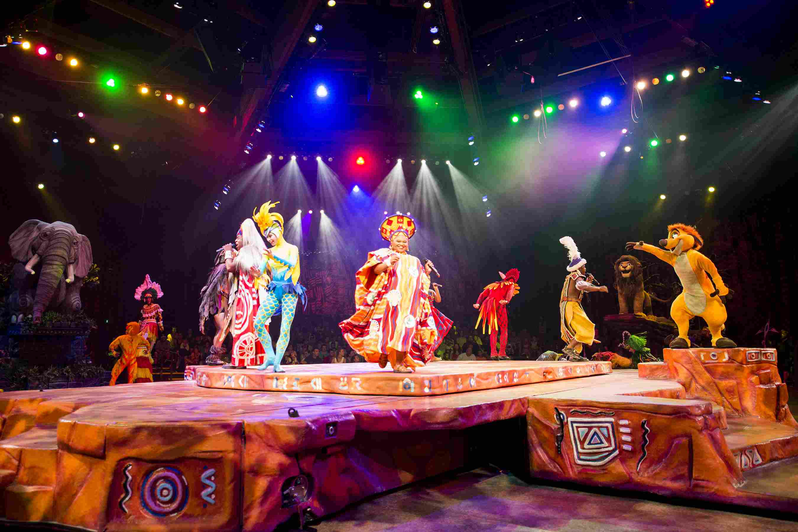 """Festival of the Lion King, the popular, high-energy live musical at Disney's Animal Kingdom combines music, puppetry and pageantry inspired by Disney's animated film classic, """"The Lion King."""""""