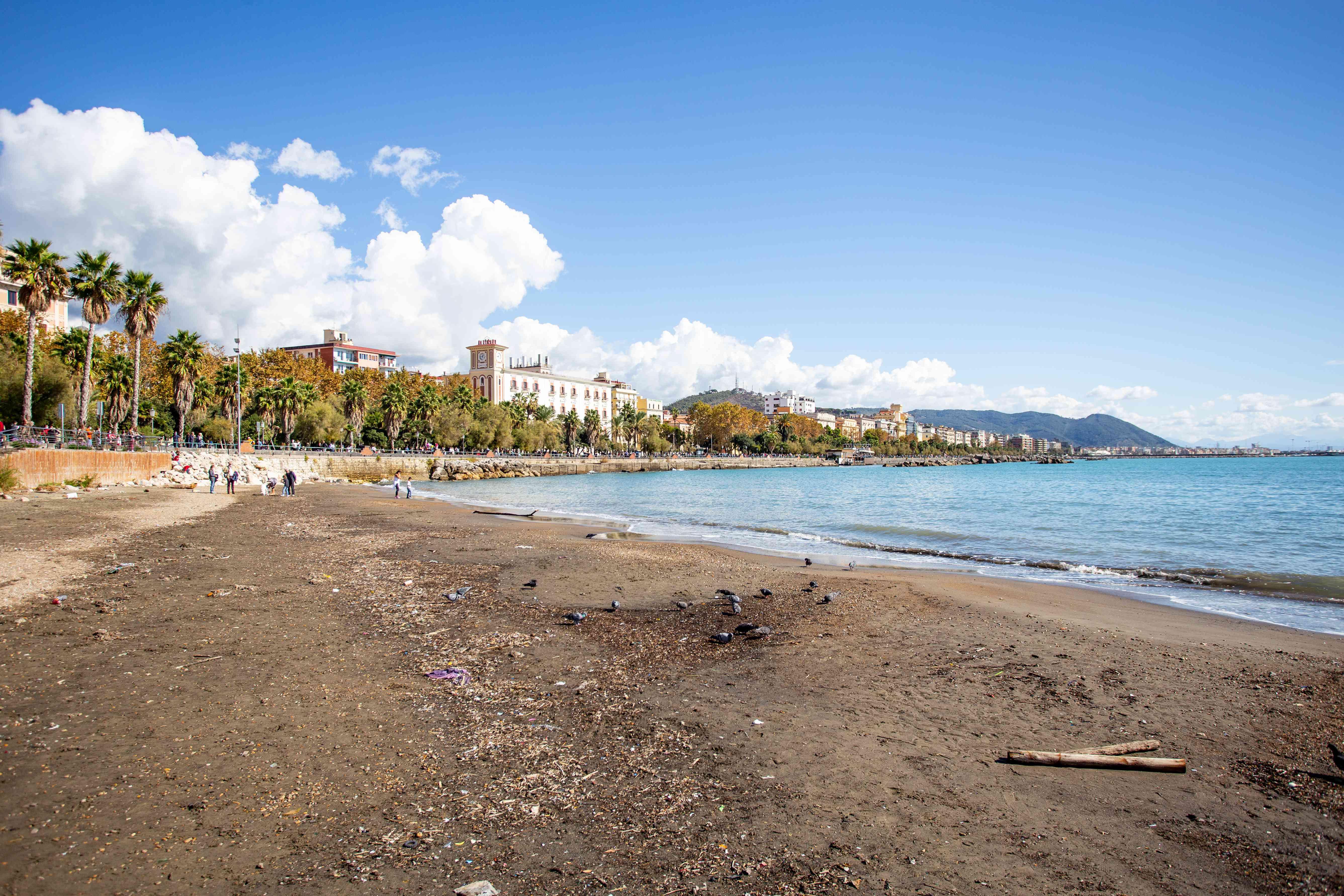 Scenic Beach near Salerno, Italy