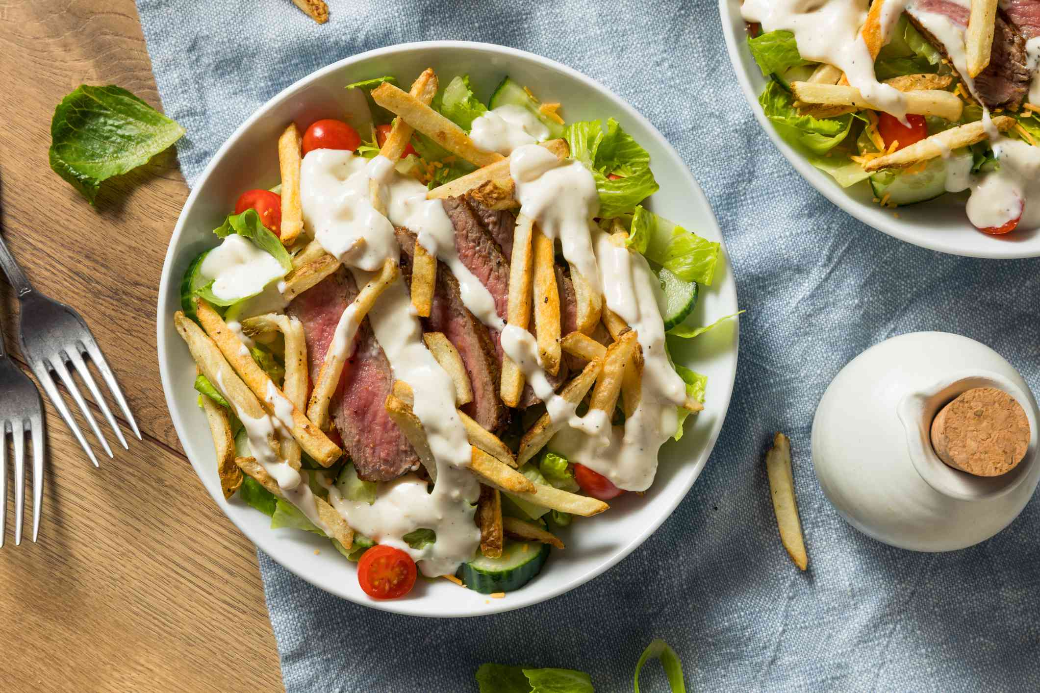 Homemade Pittsburgh Salad with Steak