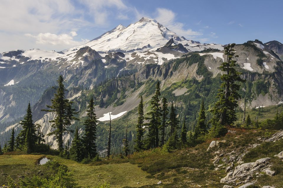 Mount Baker seen from Artist Point, Cascade Mountains, Washington State, USA