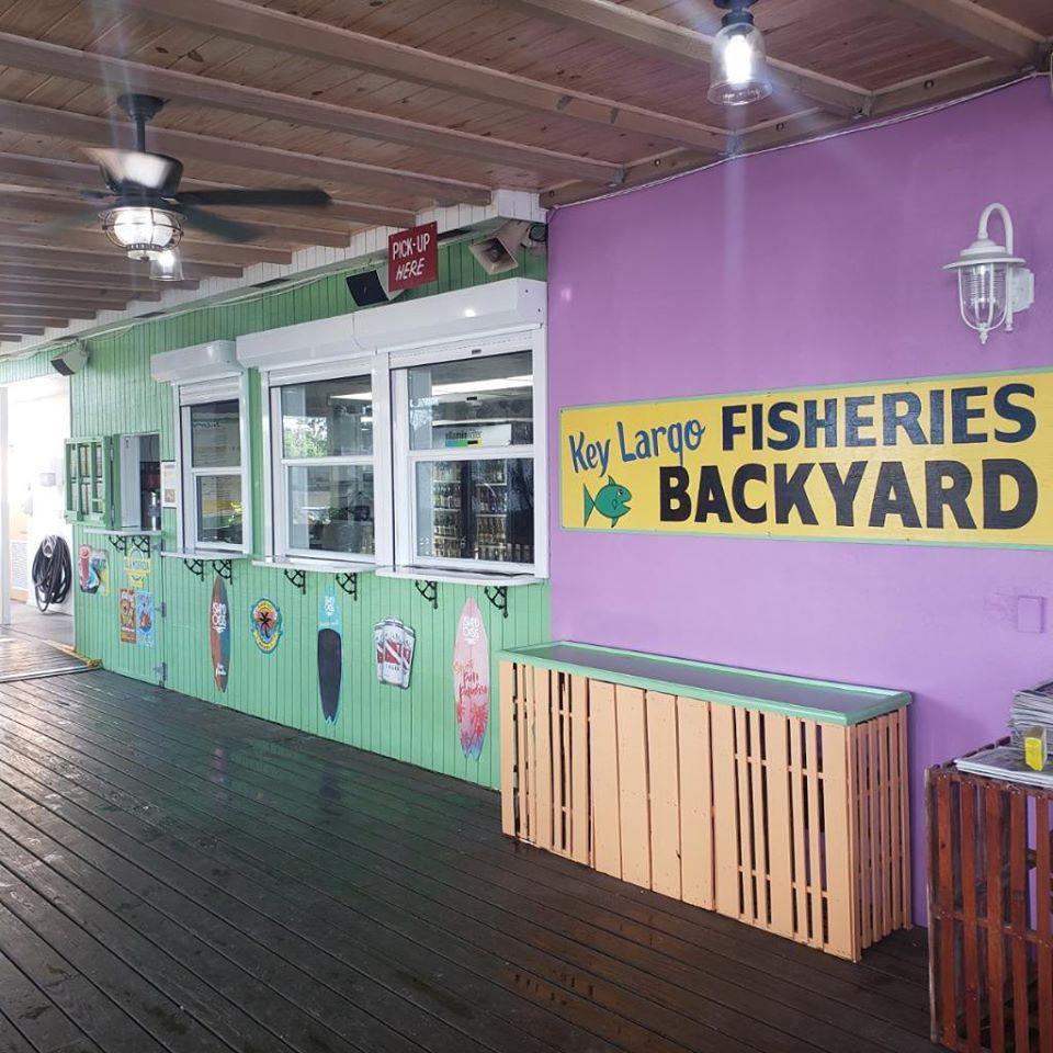 ventana de recogida en Key Largo Fisheries