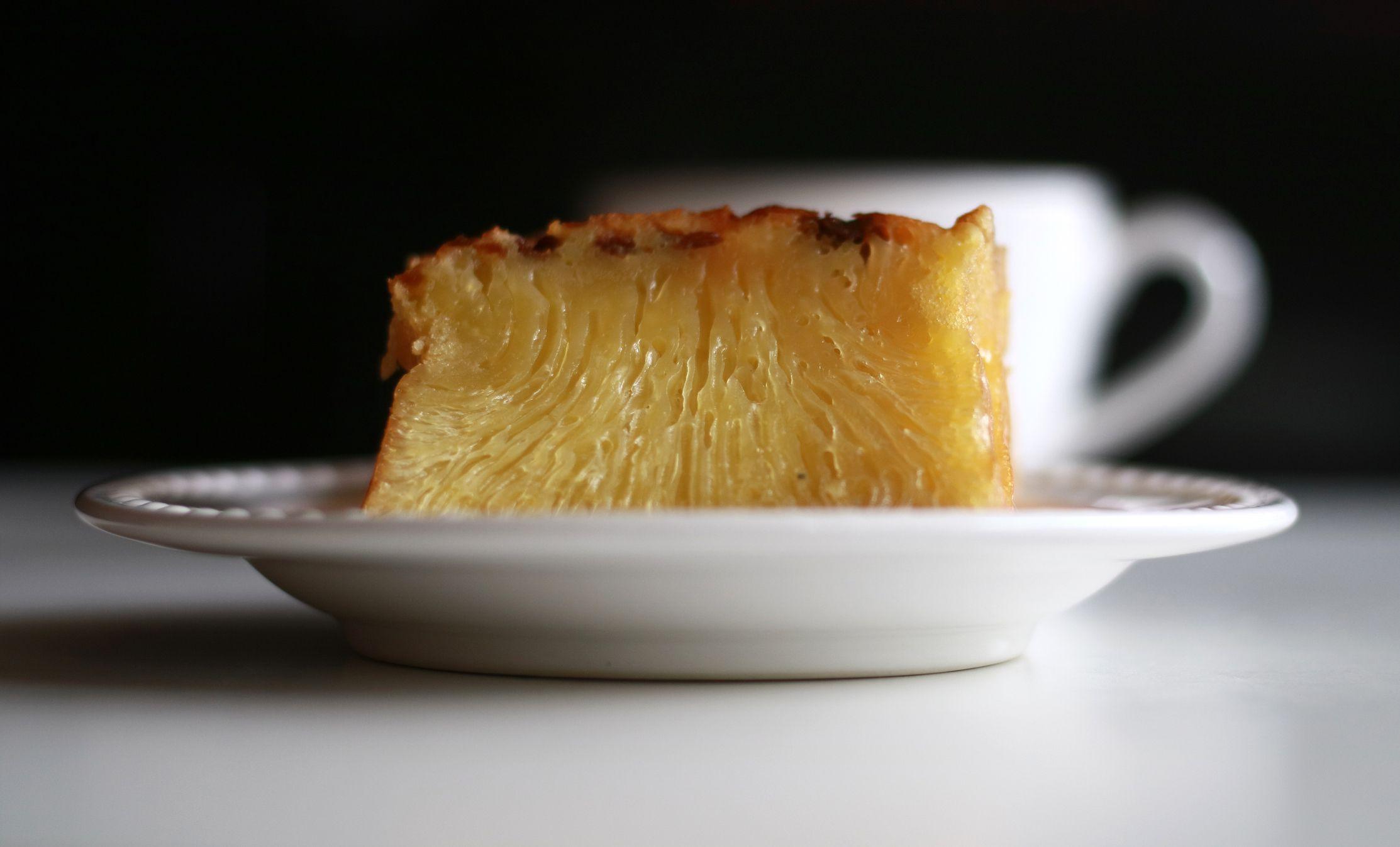 Bika Ambon. Indonesian honeycomb cake. Popular cake from Medan, North Sumatra, Indonesia.