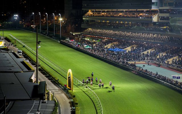 Happy Valley races at night