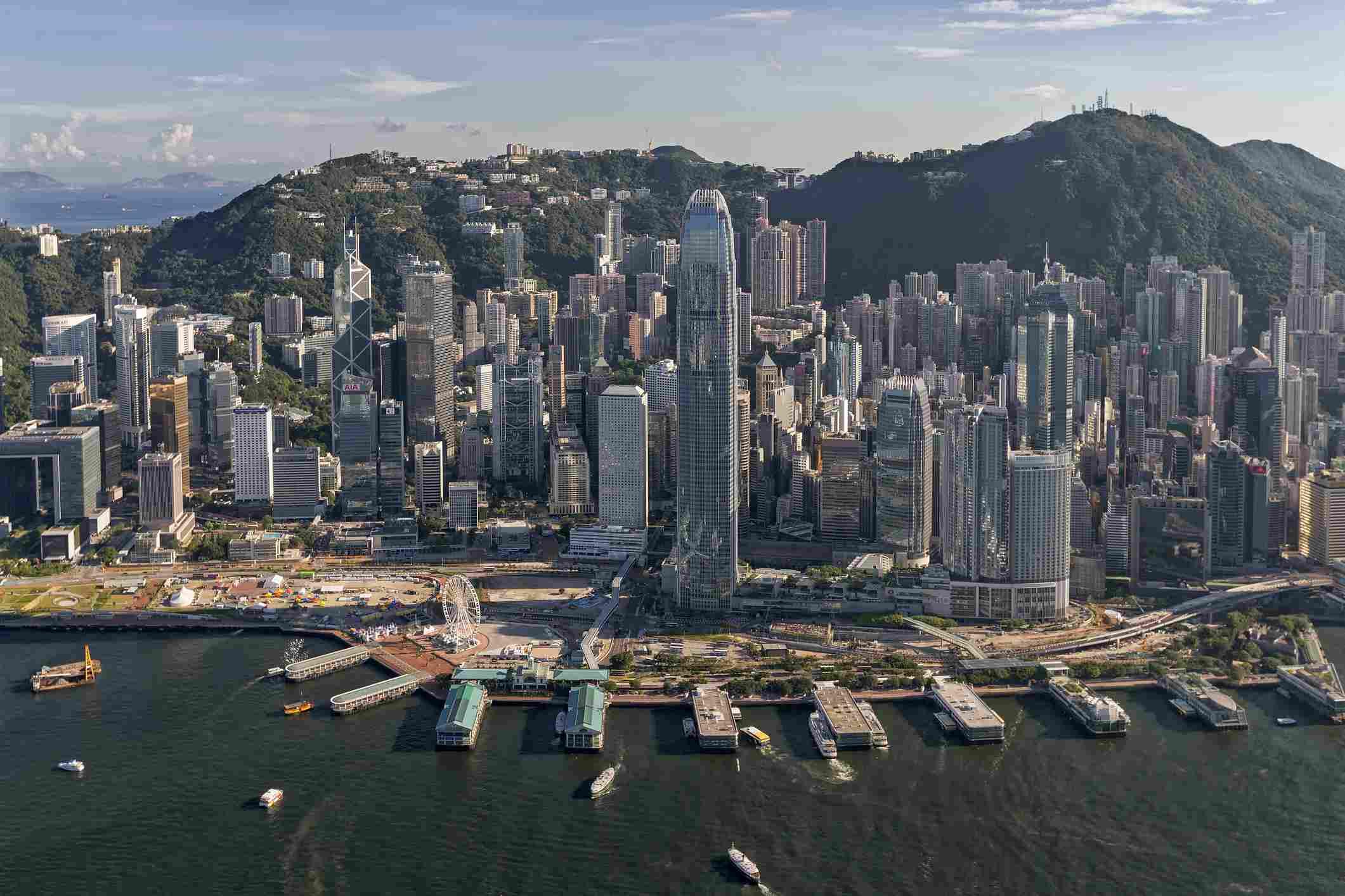 Imagen aérea del distrito financiero central