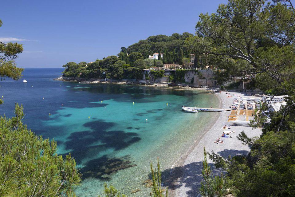 Playa de Paloma, Saint-Jean-Cap-Ferrat, Provenza-Alpes-Costa Azul, Provenza, Francia, Mediterráneo, Europa