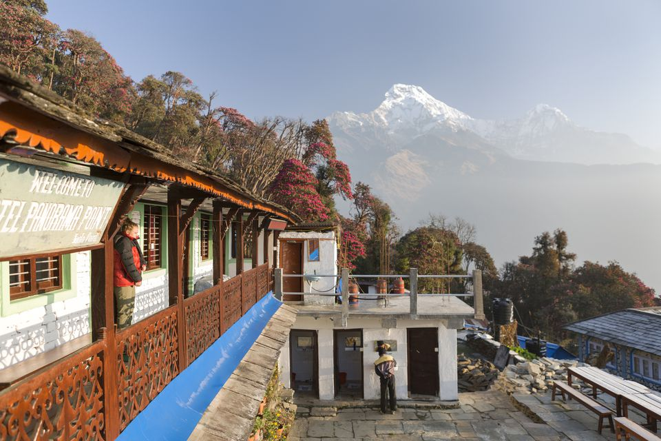 Accommodations in the mountains of Nepal.