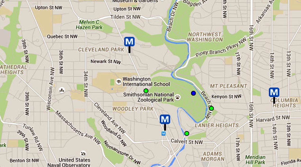 National Zoo in Washington, D.C.: Directions and Maps on