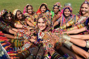 Garba performers in Gujarat.