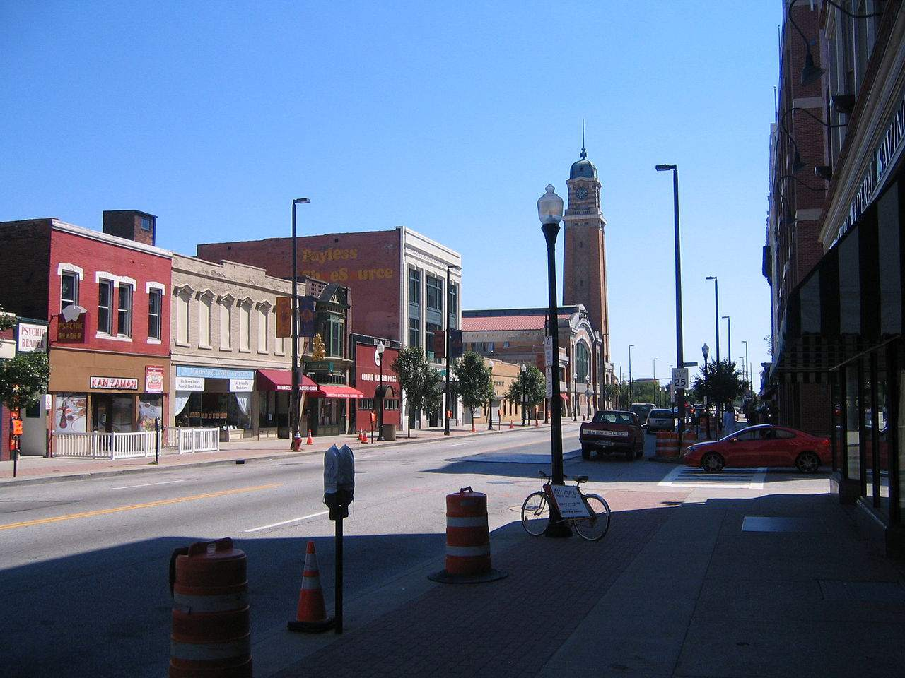 Looking south on West 25th Street in Ohio City, towards the West Side Market.