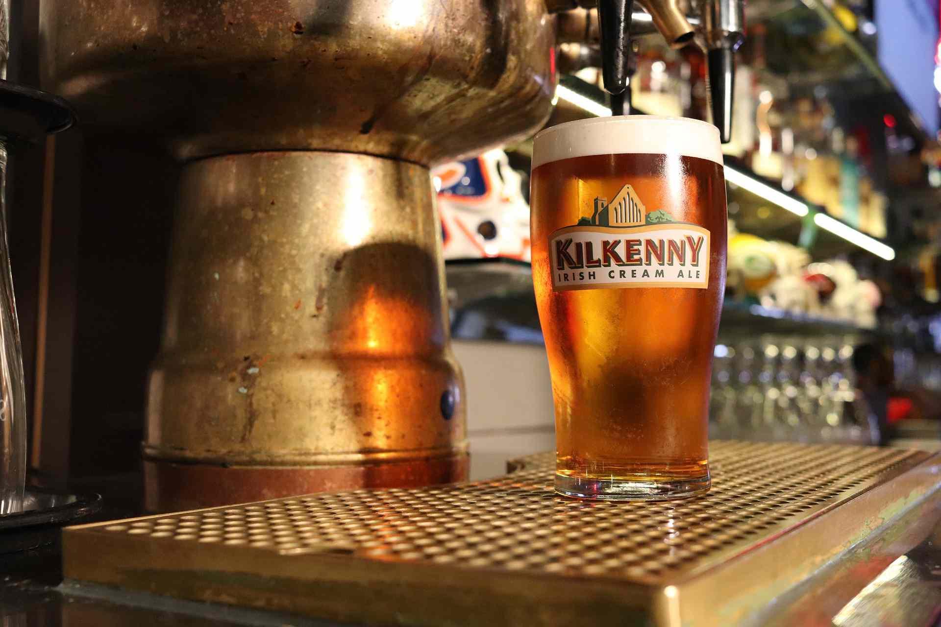 pint of Kilkenny beer