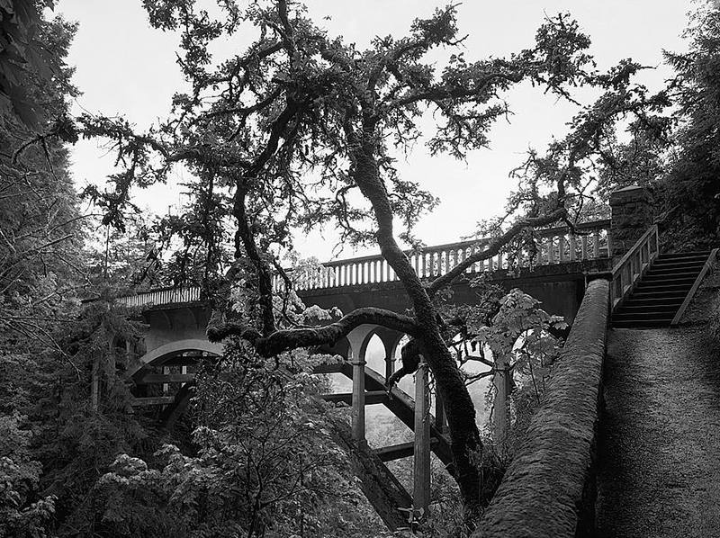 Photo of Historic Shepperd's Dell Bridge along the Columbia River Highway