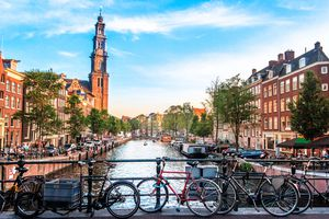 View of canal in Amsterdam