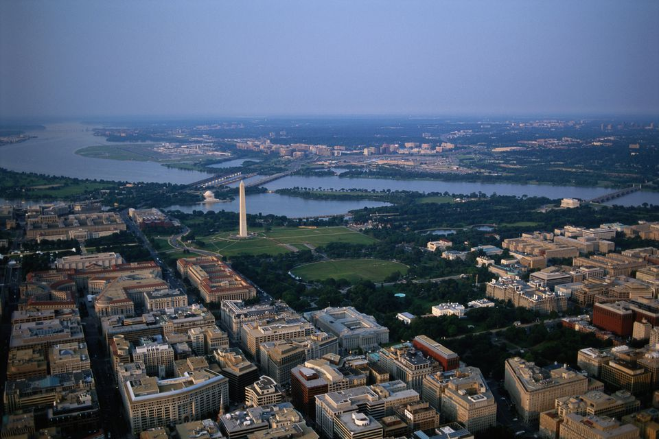 Vista aérea de Washington, DC