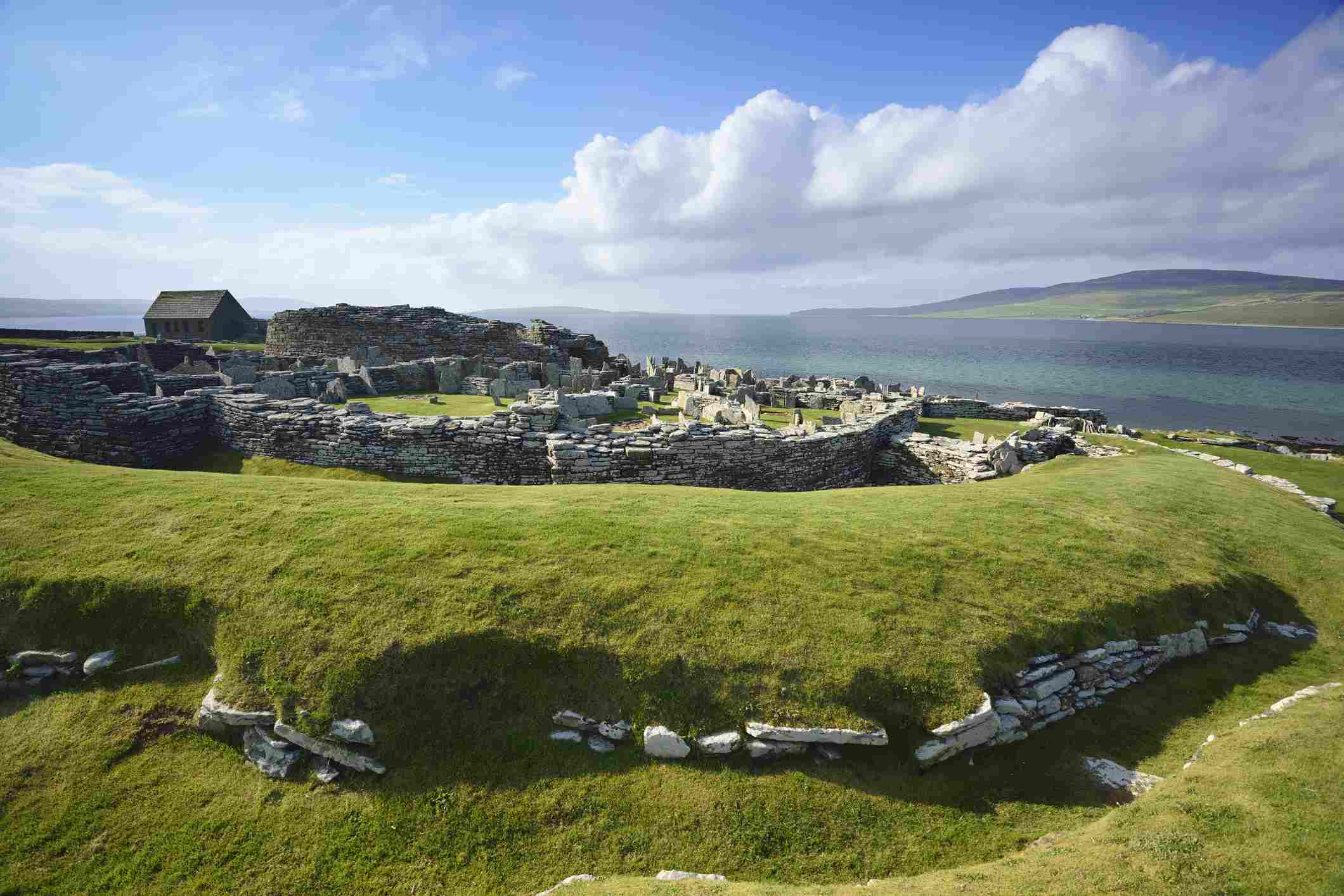 Neolithic settlement Broch of Gurness, Broch of Gurness, UNESCO World Heritage Site The Heart of Neolithic Orkney, Orkney Islands, Scotland, Great Britain, United Kingdom