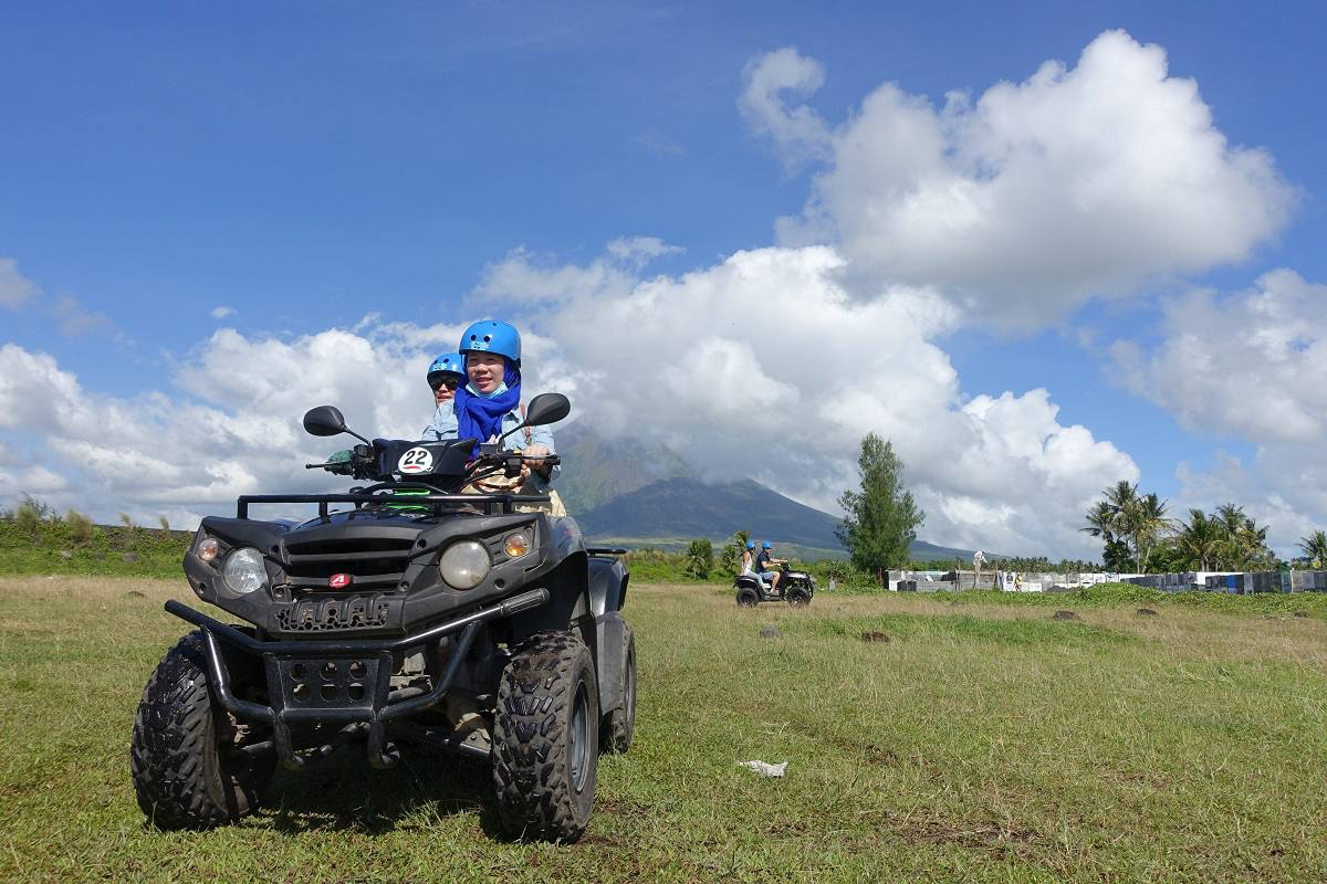 All Terrain Vehicle up Mayon Volcano, Philippines