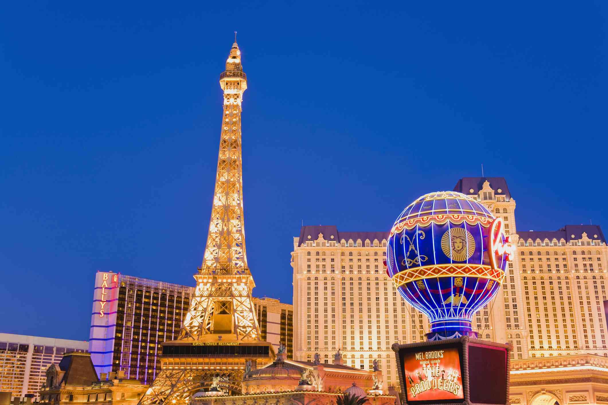Eiffel Tower Replica and Paris Hotel