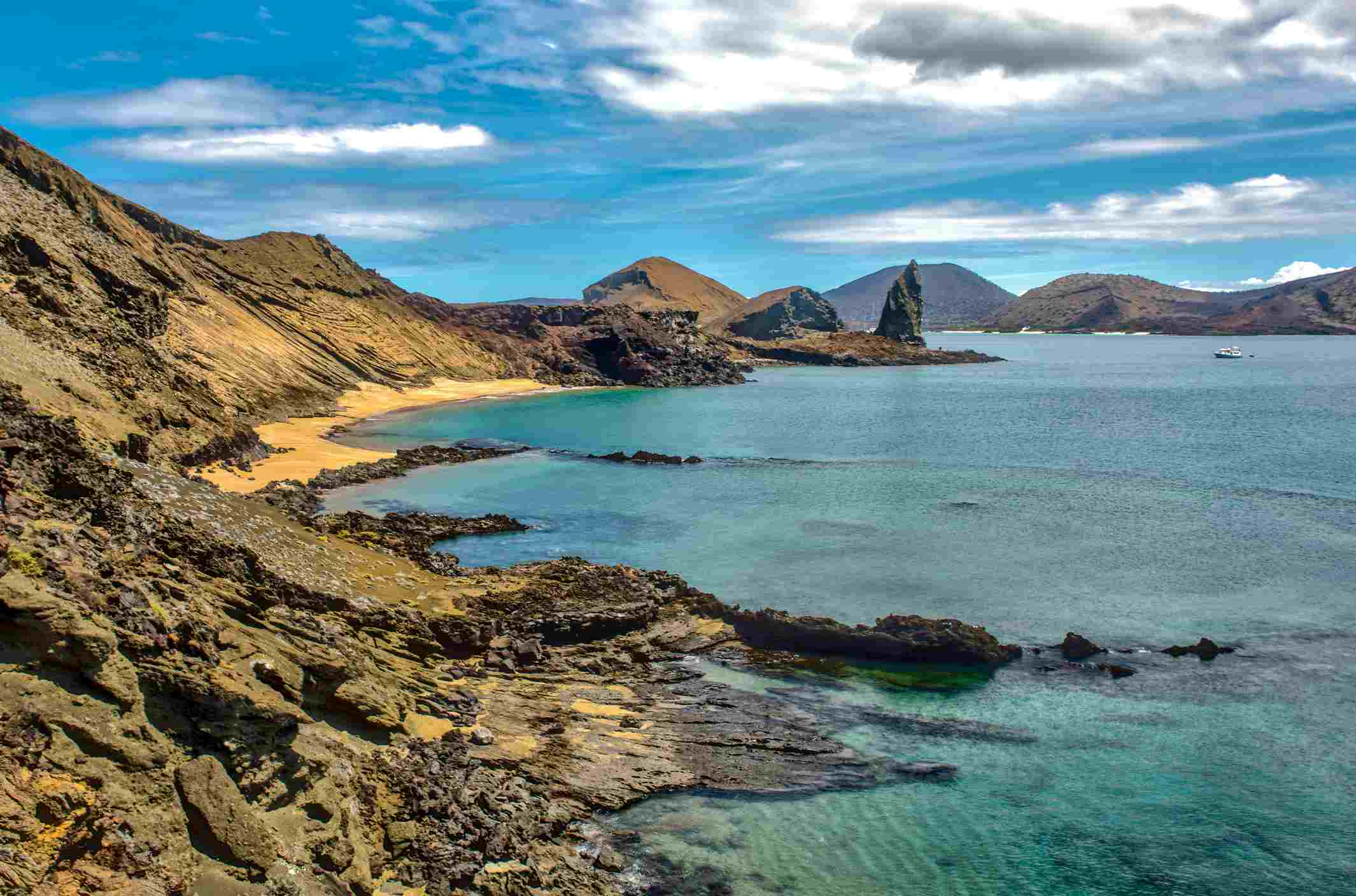 Bartolomé Island is a volcanic islet in the Galápagos Islands group