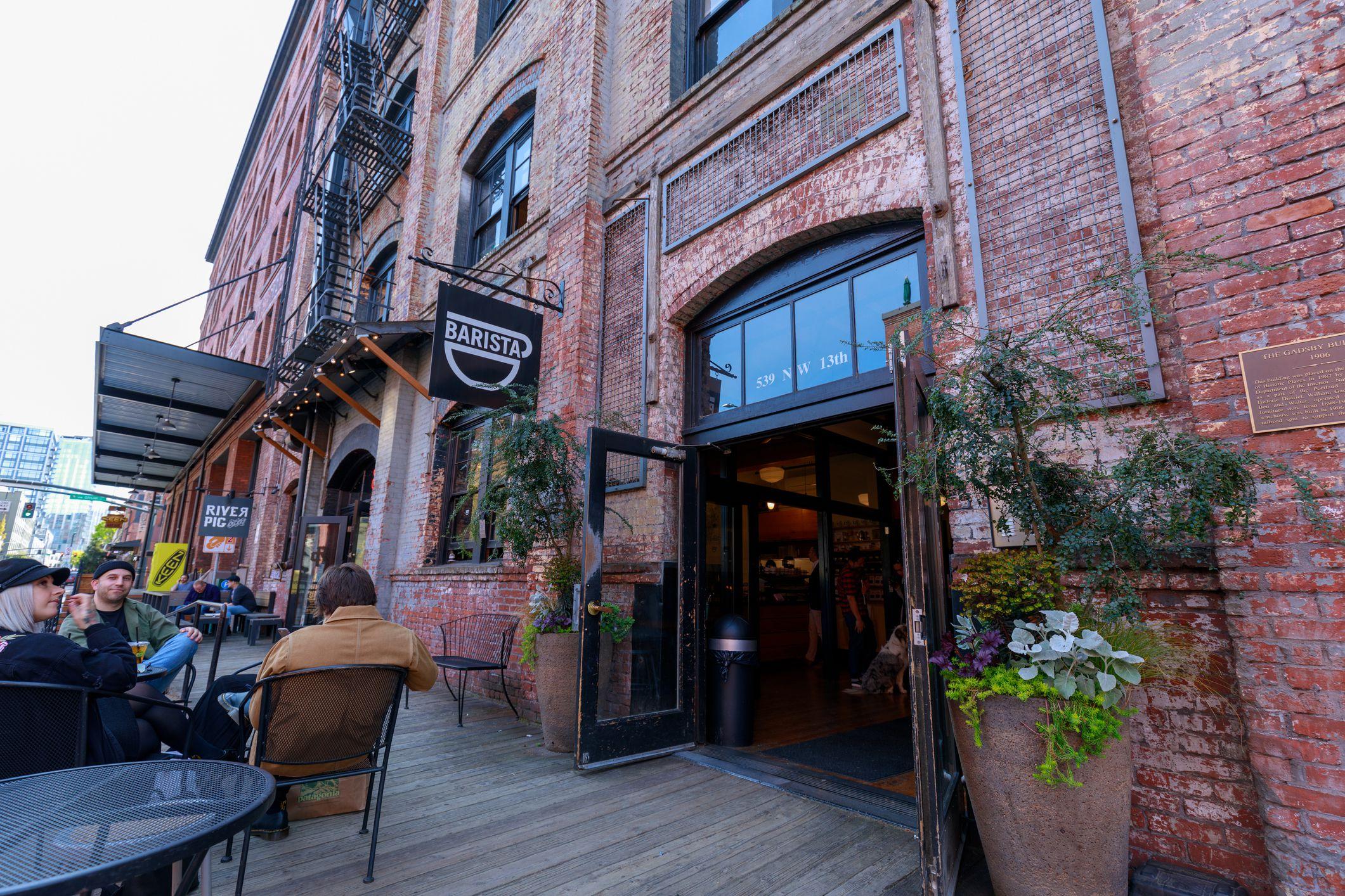 Cafetería Barista en el Distrito Pearl de Portland