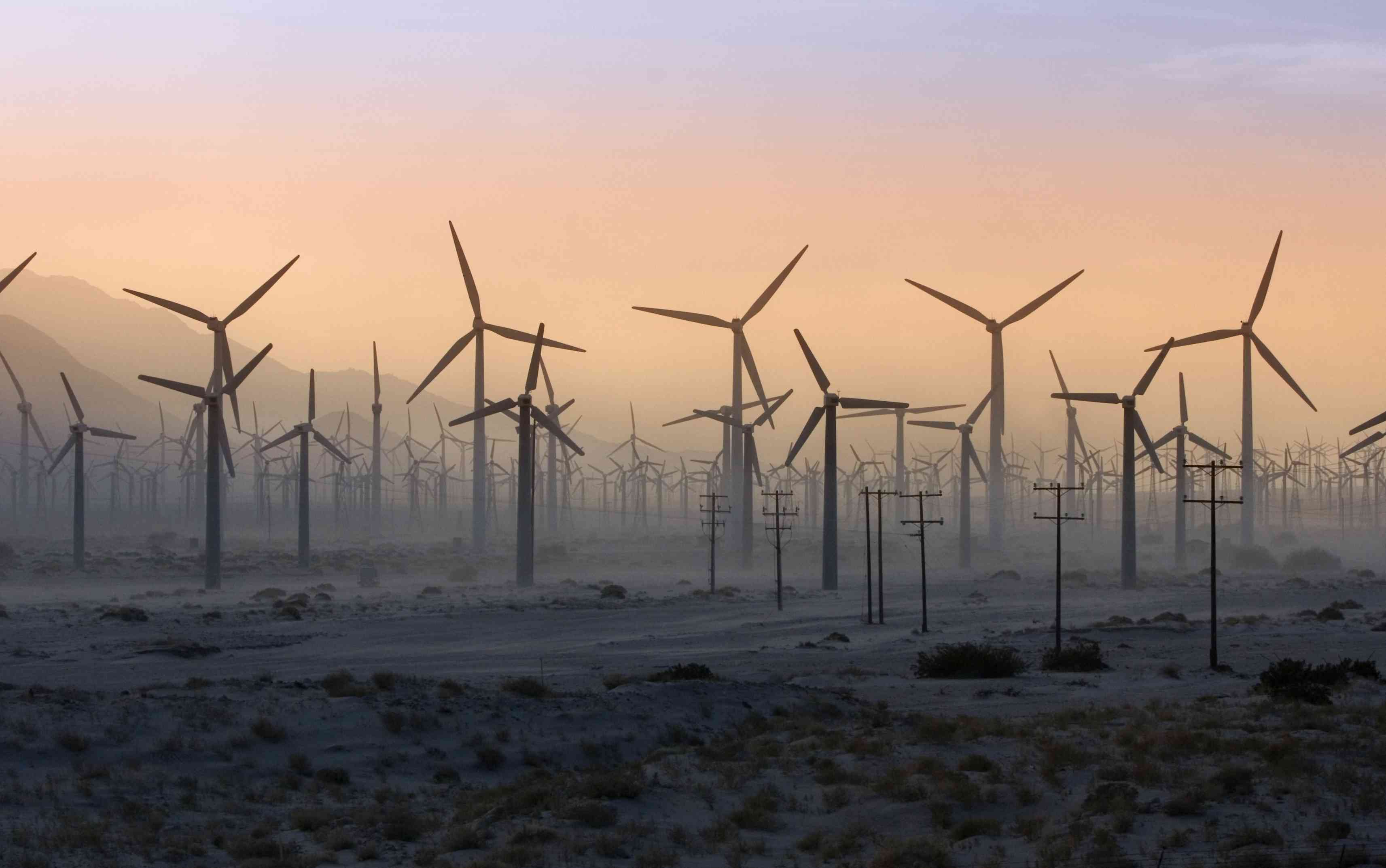 Palm Springs Windmills During a Dust Storm