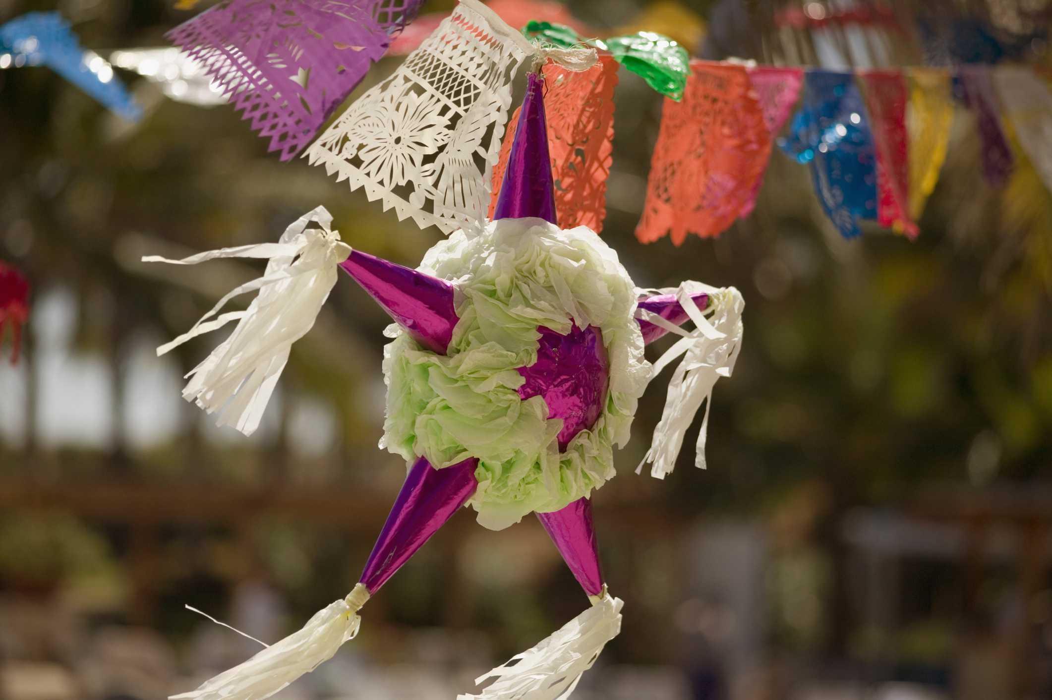 A star shaped piñata