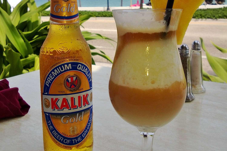 Beer at a Bahamas bar