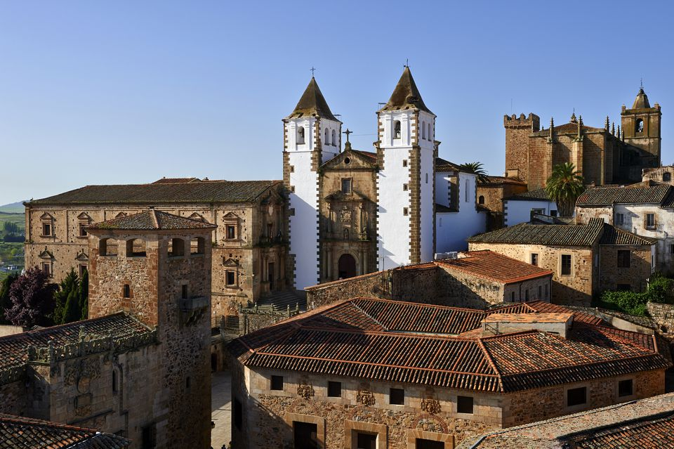View of Caceres old town