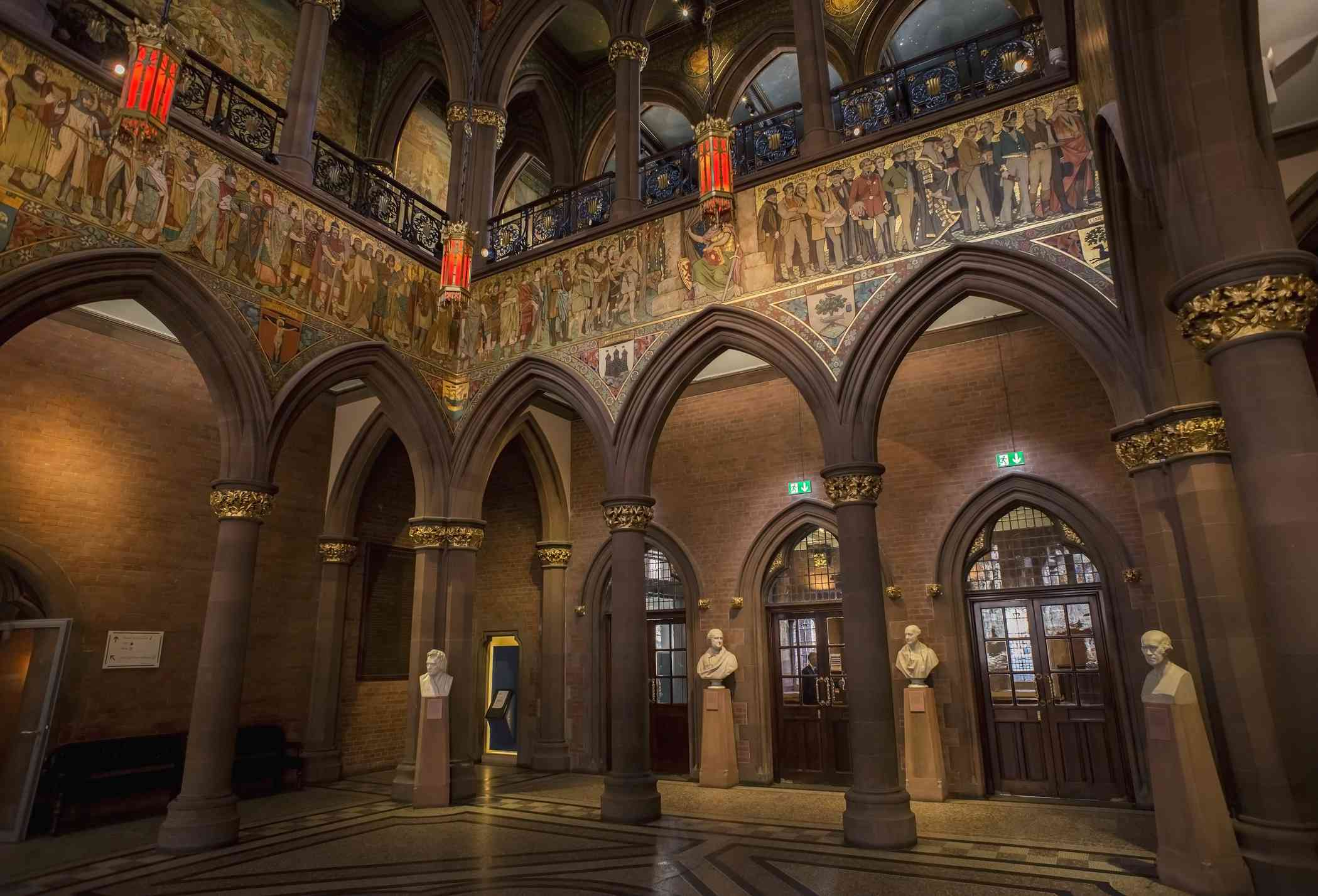 Arches and frieze in Scottish National Portrait Gallery