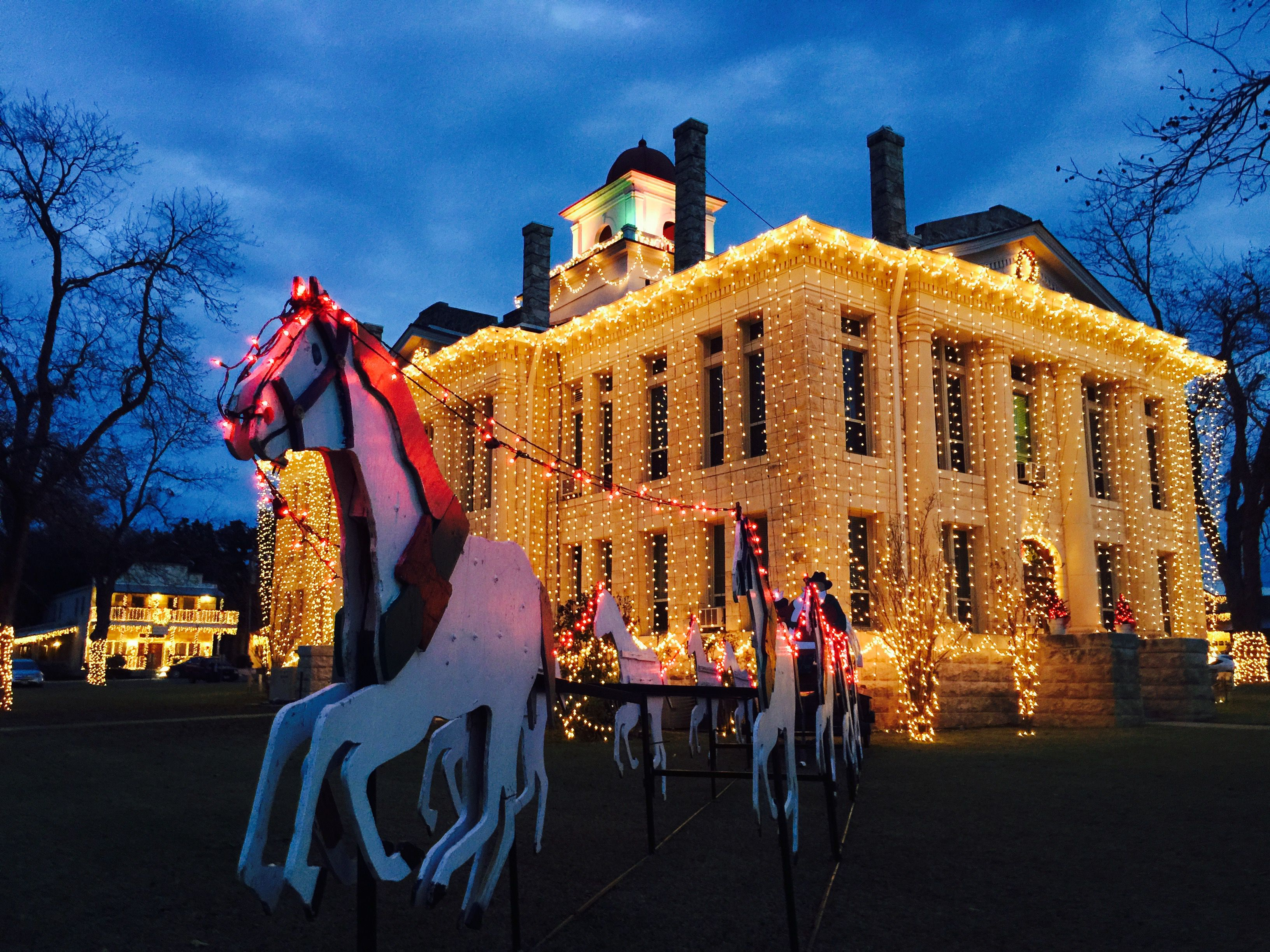 Texas Hill Country Christmas Lights Trail and Events