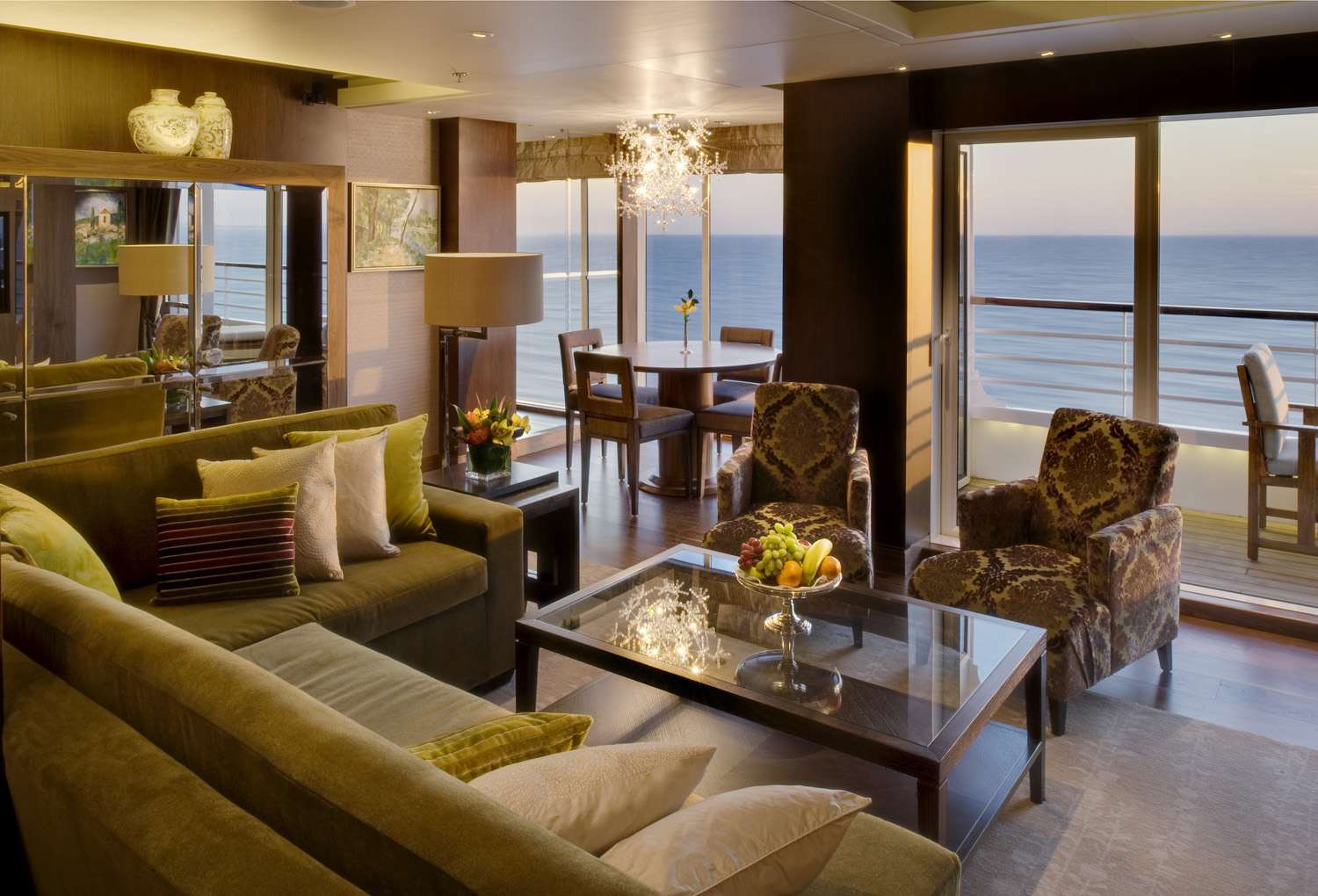 Crystal Symphony Crystal Suite Living Room