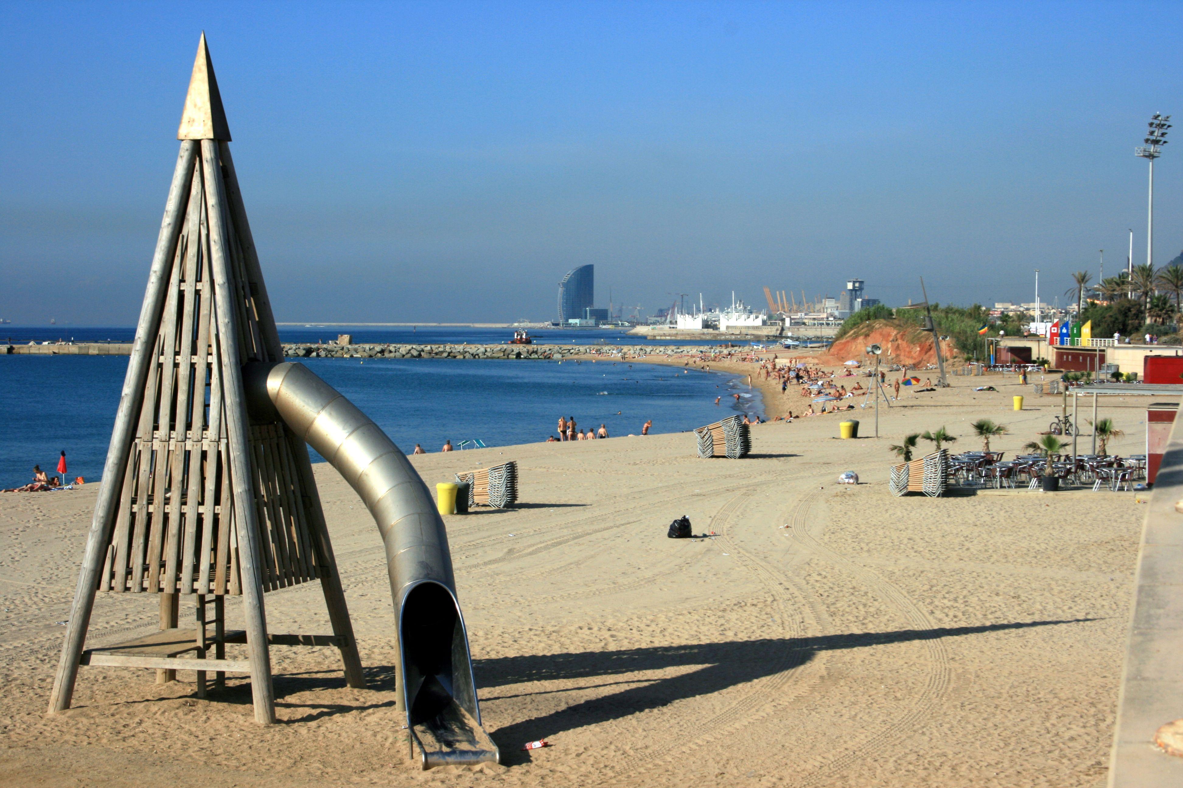 Mar Bella Strand in Spanien