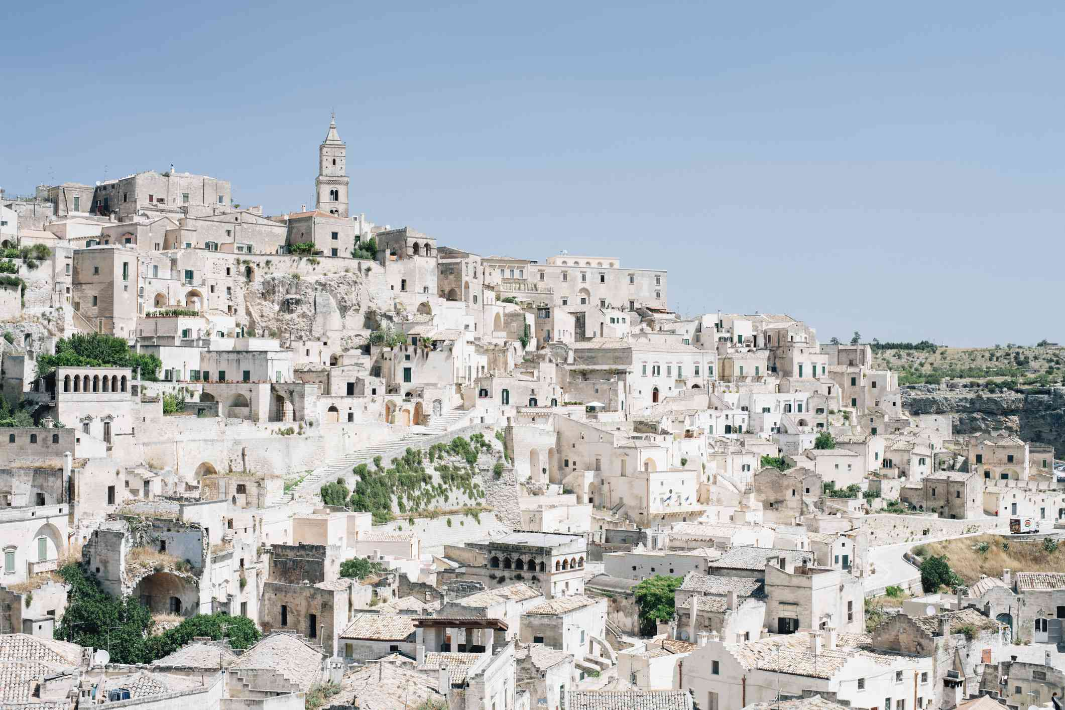City of Matera on a hillside