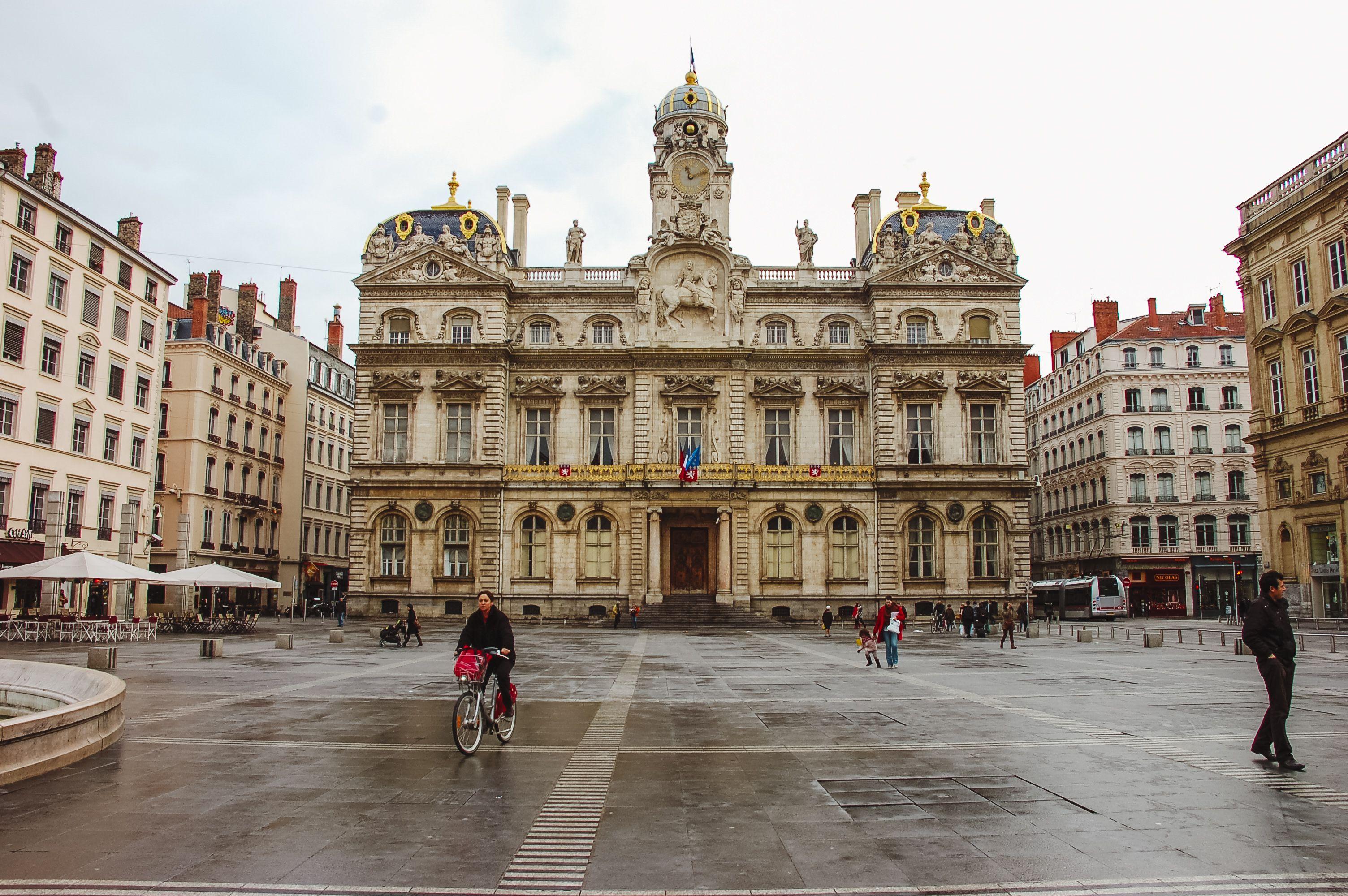 A plaza in Lyon