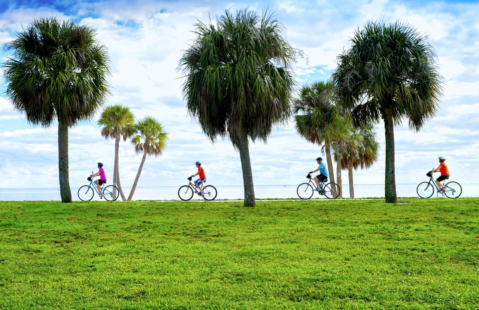 Bicycling, Tampa Bay, Saint Petersburg, Florida