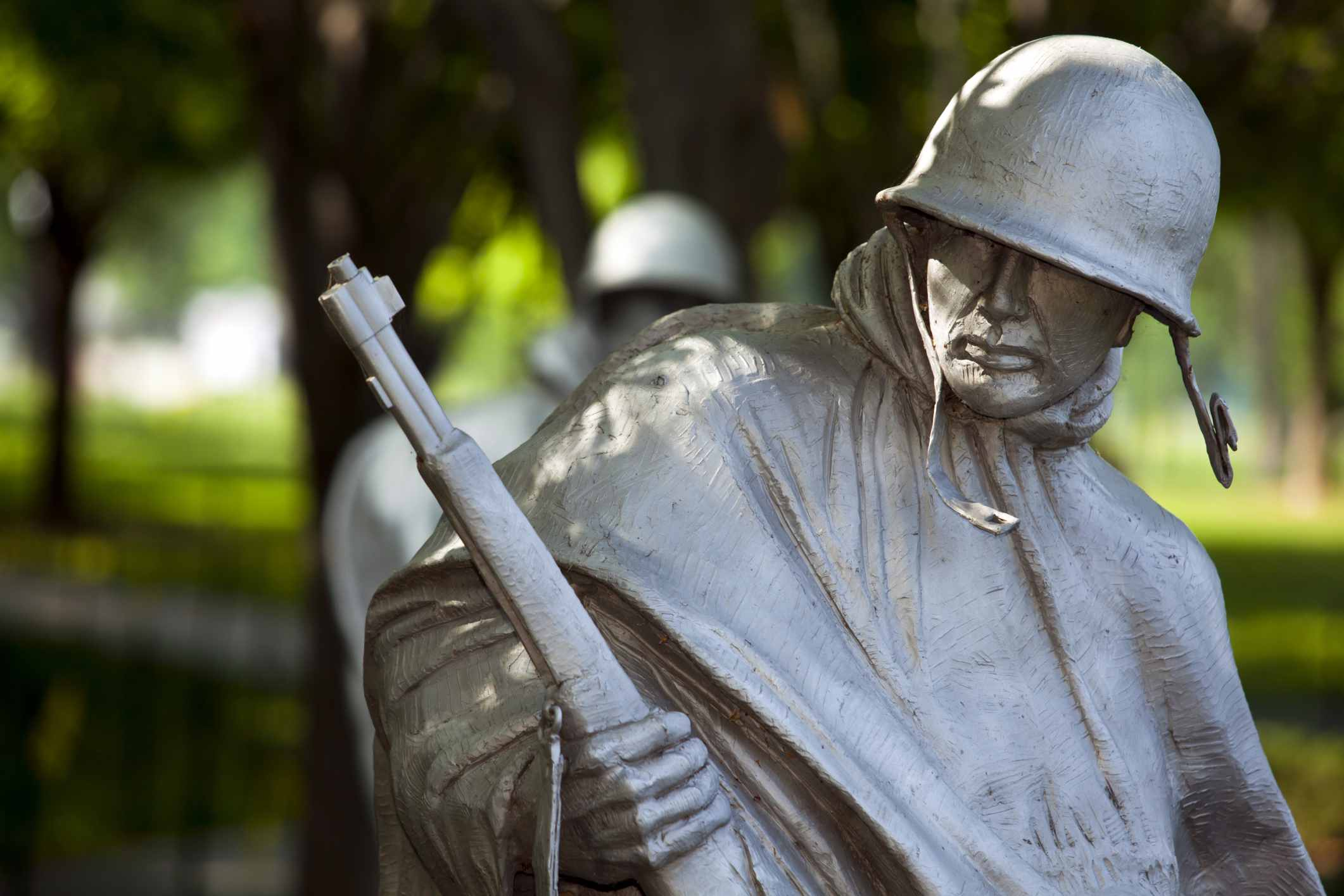 There are 19 statues used in the Korean War Memorial, Washington, DC