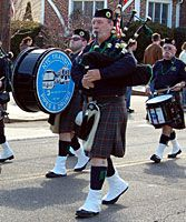 Bagpipers at Queens County St. Patrick's Day Parade