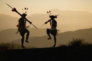 Angami Tribal Dancers in Northeast India.