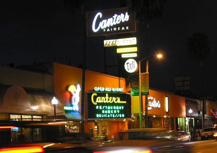 Canter's Delicatessen on Fairfax in Los Angeles