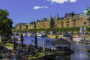 Strandvagen waterway in Stockholm, Sweden