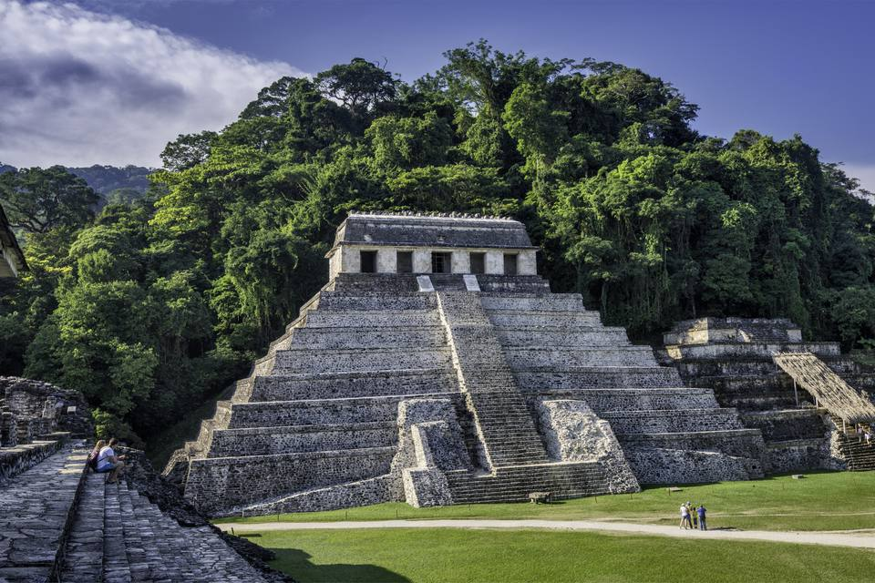 Palenque UNESCO site in Chiapas, Mexico.