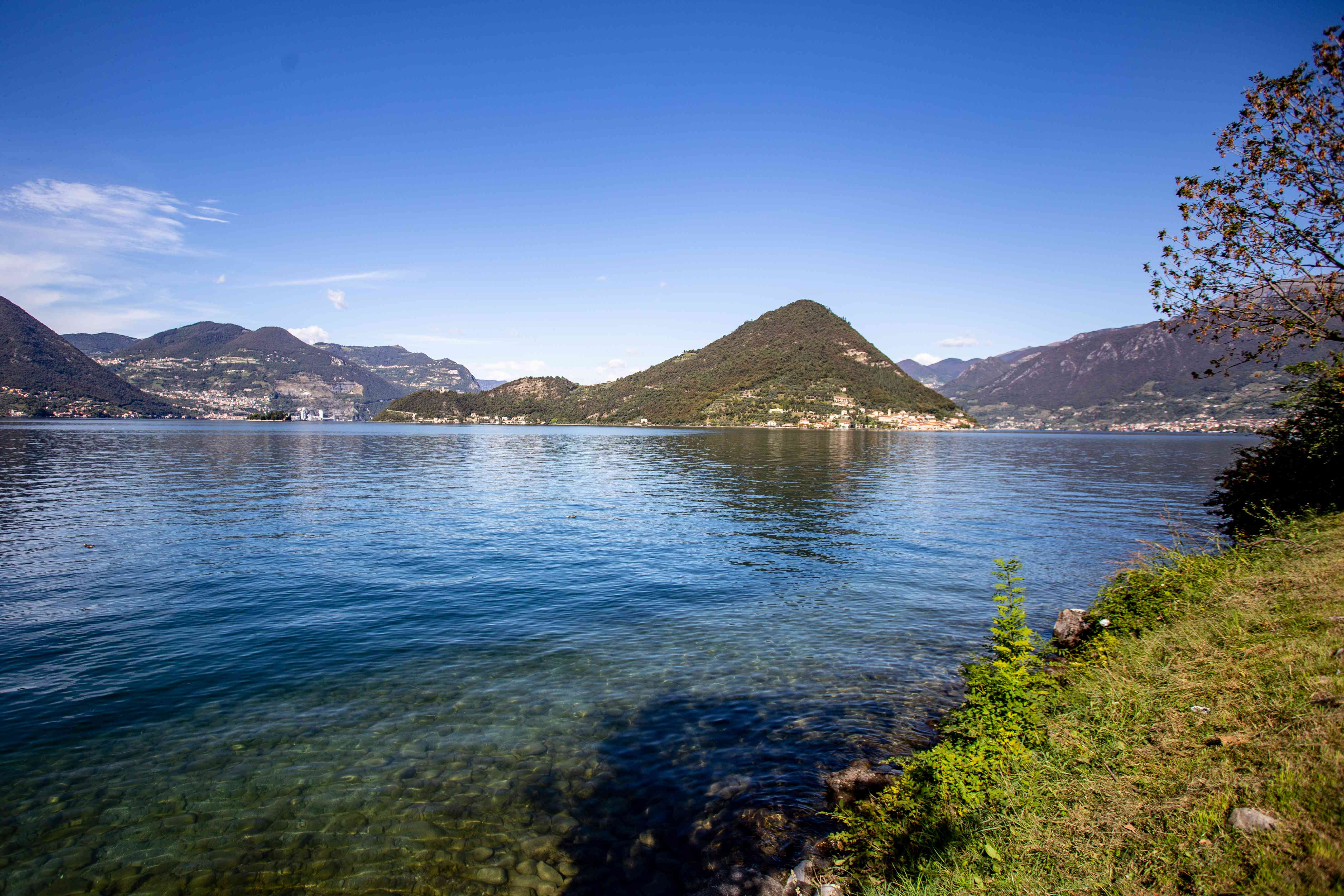 Lake Iseo in Franciacorta, Italy