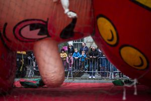 Fantastical Floats Are Prepared For Annual Macy's Thanksgiving Parade