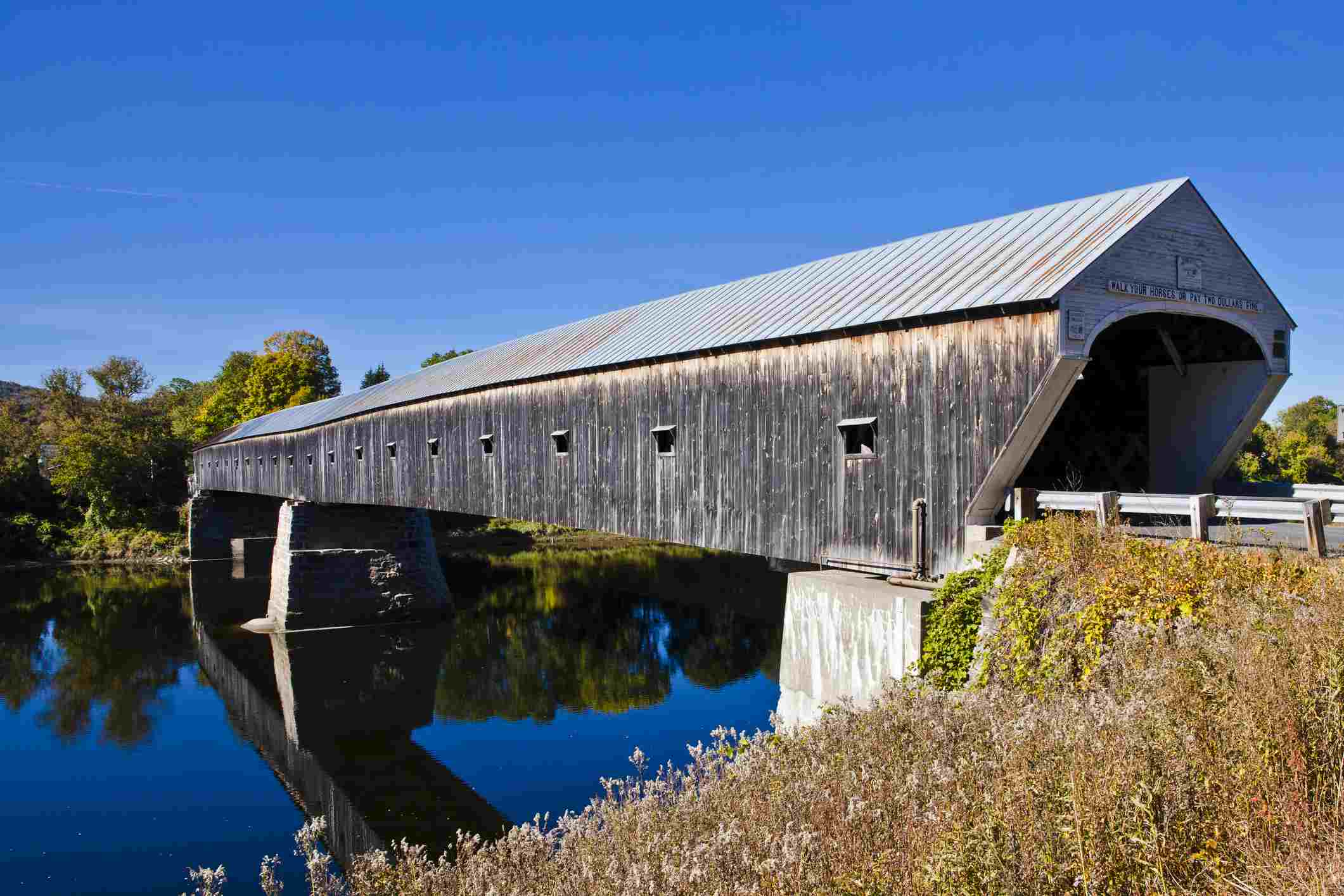 The Cornish Windsor covered bridge connecting New Hampshire and Vermont