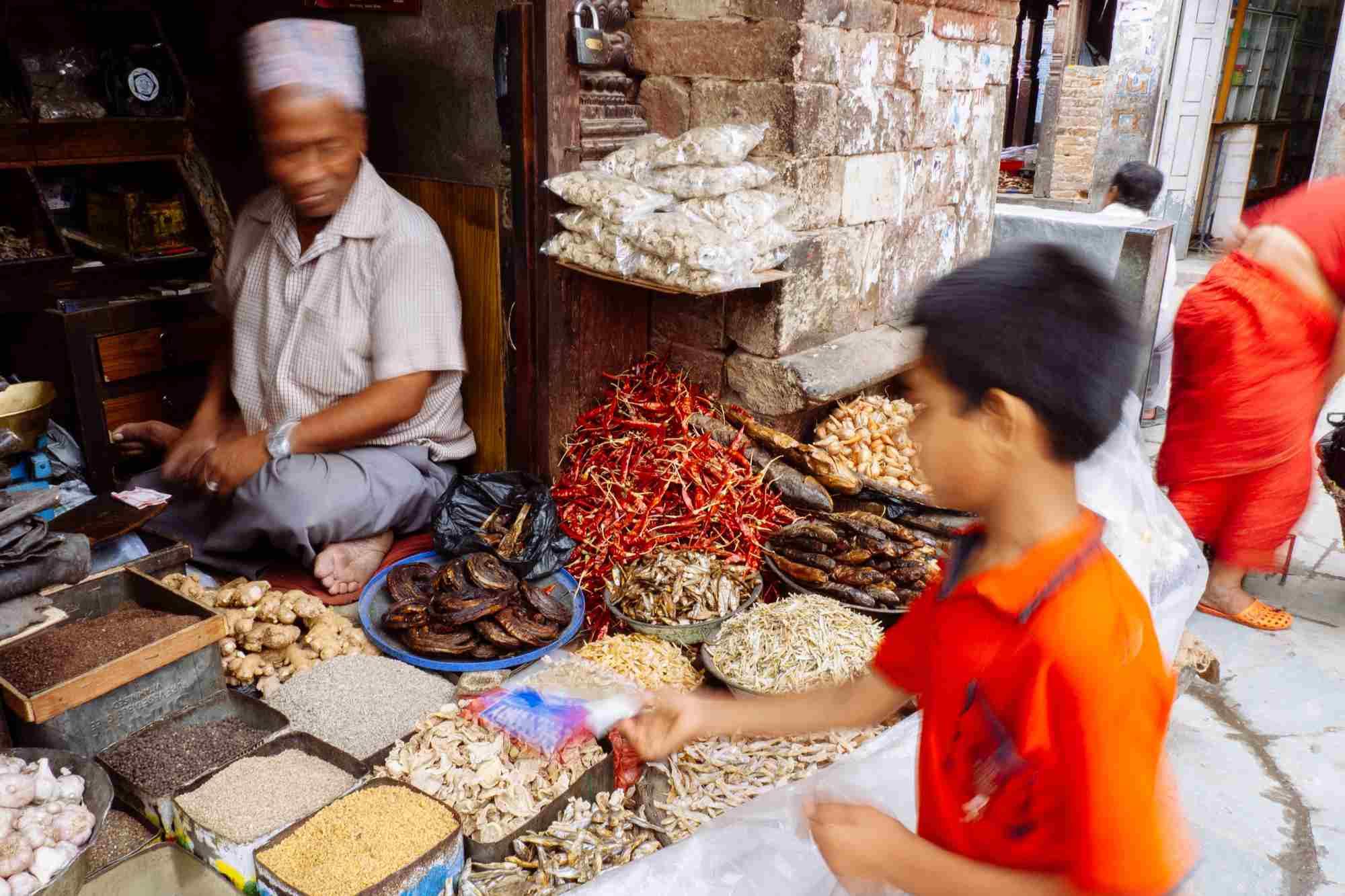 Kathmandu spice seller.