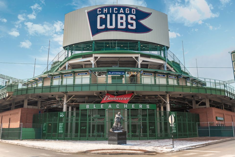 exterior of Wrigley Field